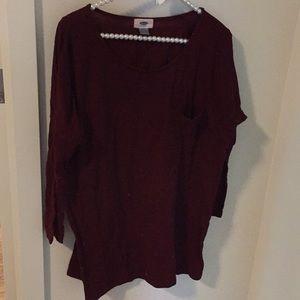 Long sleeve maroon sweater